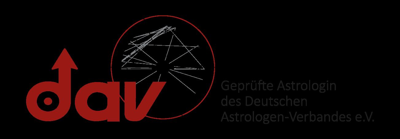 DAV Logo GeprfterAstrologin V2 rot